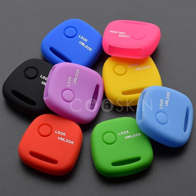 Авто кожа куртка силикагель брелок оболочки крышка для Nissan PINO для Mazda для Suzuki Moko Wagon R 1 кнопка ключ 10 шт./партия