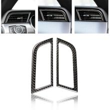 1 Pair Carbon Fiber Car Side Air Outlet Cover Sticker for Ford Mustang 15-17 2015-2017