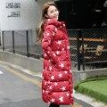Зима Теплая Мягкий Хлопок Куртка Женщин Длинное Пальто Парки Женский С Капюшоном Верхней Одежды