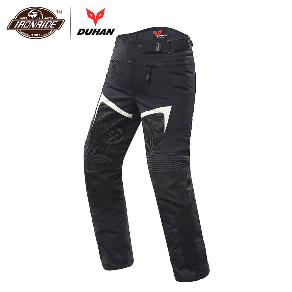 DUHAN Motorcycle Pants Men Breathable Mesh Motorbike Pants Armor Trousers Riding Touring Moto Pants Pantalon Protective Gear catalog vstavki icon d3o armor pass pants single html