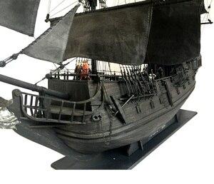 Image 2 - New black pearl Pirates ship wooden model kit 80cm length