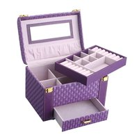 Jewelry Packaging Box Casket For Earrings Bracelet Jewelry Exquisite Makeup Case Rings Organizer Container Boxes Birthday Gifts