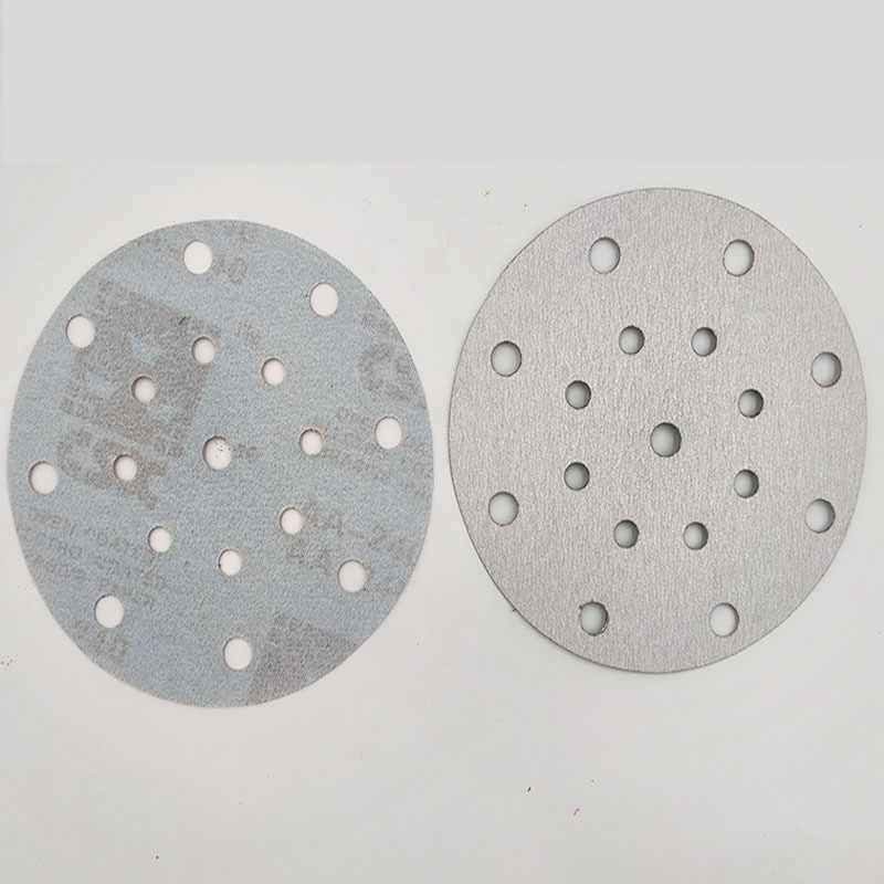 "17 Lubang 100 Pcs 150 Mm 6 ""Abrasive Amplas Pengamplasan Disc Hook Kertas Pasir untuk Cana All Inclusive Alat-alat Listrik Aksesoris"