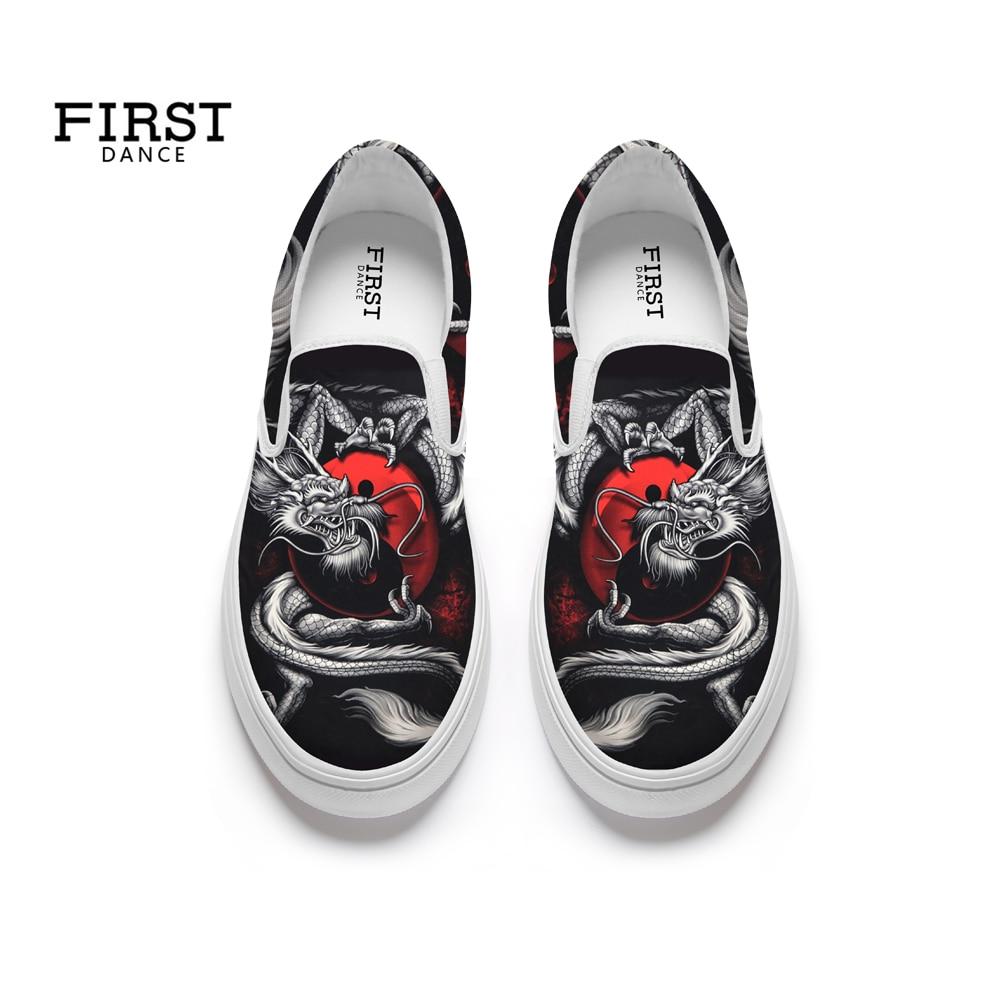 Dragon Danse style5 Sur style3 Style1 Plat Printemps Imprimé À Chaussures Agréable Décontracté Glisser style4 Fond Des Mocassins Première Beau Mode Noir style2 Hommes Pour Px1qnqgd
