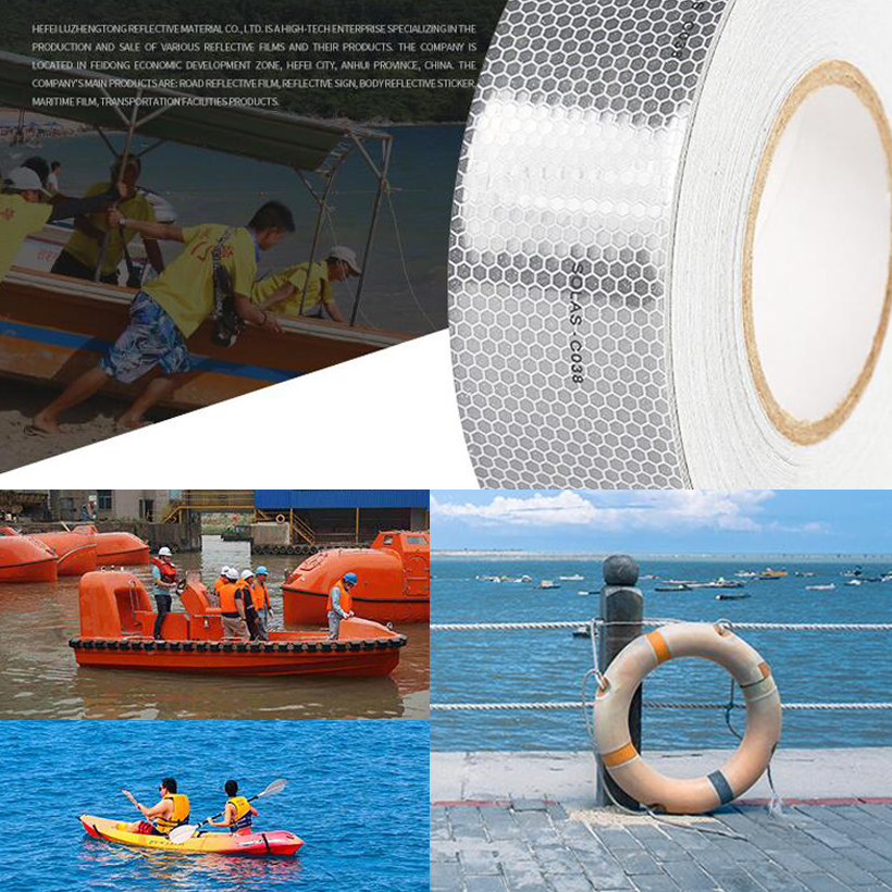 Adhesive Solas Grade Safety Maritime Reflective Tape For Traffic Safety 4