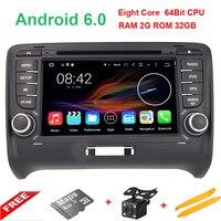 Android Octa rdzeń PX5 6.0.1 HD 1024*600 ekran Dotykowy 2 DIN Car DVD GPS Radio stereo Dla AUDI TT wifi 3G GPS BT SWC USB AUDIO OBD