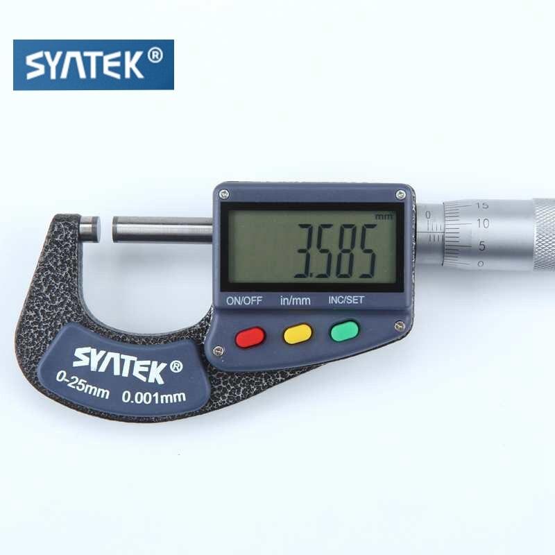 Микрометр электронный с ЖК-дисплеем, 0-25 мм, 0,001 мм
