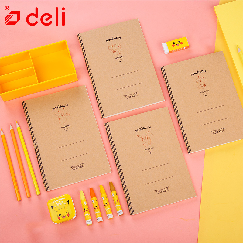 Deli 4pcs student notebook school stationery cute kawaii creative daily book kids gift A5 60Sheet diary school & office supplies kawaii stationery cute a5 notebook 32 page notepad diary book journal record office school supplies caderno for kids gifts