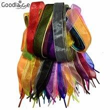 50 Pairs of 2cm Wide Fantastic Flat Shoelaces Voile Ribbon Shoe Laces for Sneaker Sport Shoes 80cm, 120cm