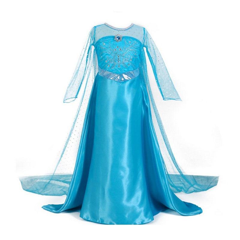 HTB1npZ5bozrK1RjSspmq6AOdFXaY 2019 New Elsa Dress Girls Summer Dress Princess Anna Cosplay Costume Dresses For Girl Princess Vestidos Menina