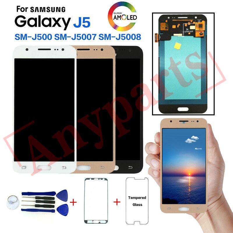 AMOLED pour SAMSUNG Galaxy J5 SM-J500FN J500F affichage écran lcd remplacement pour Samsung SM-J500G J500H J500M J5007 J5008 affichage