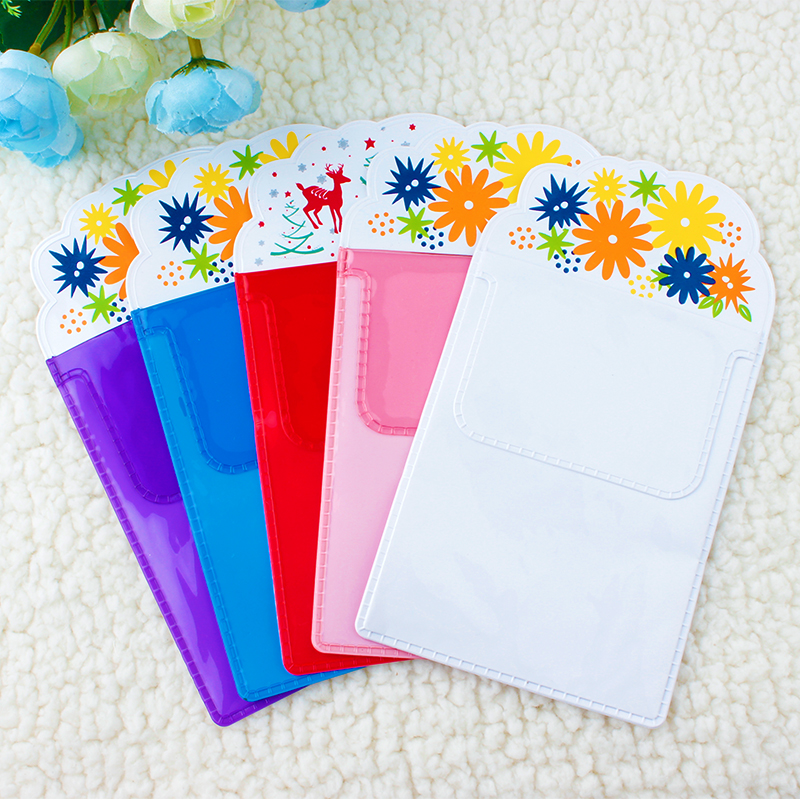 Doctor Nurse Pvc Pen Pocket Protector Christmas Gift For Nurse Flower Pattern Flasp Vinyl Pvc Pocket Pen Holder For Pen Leaks