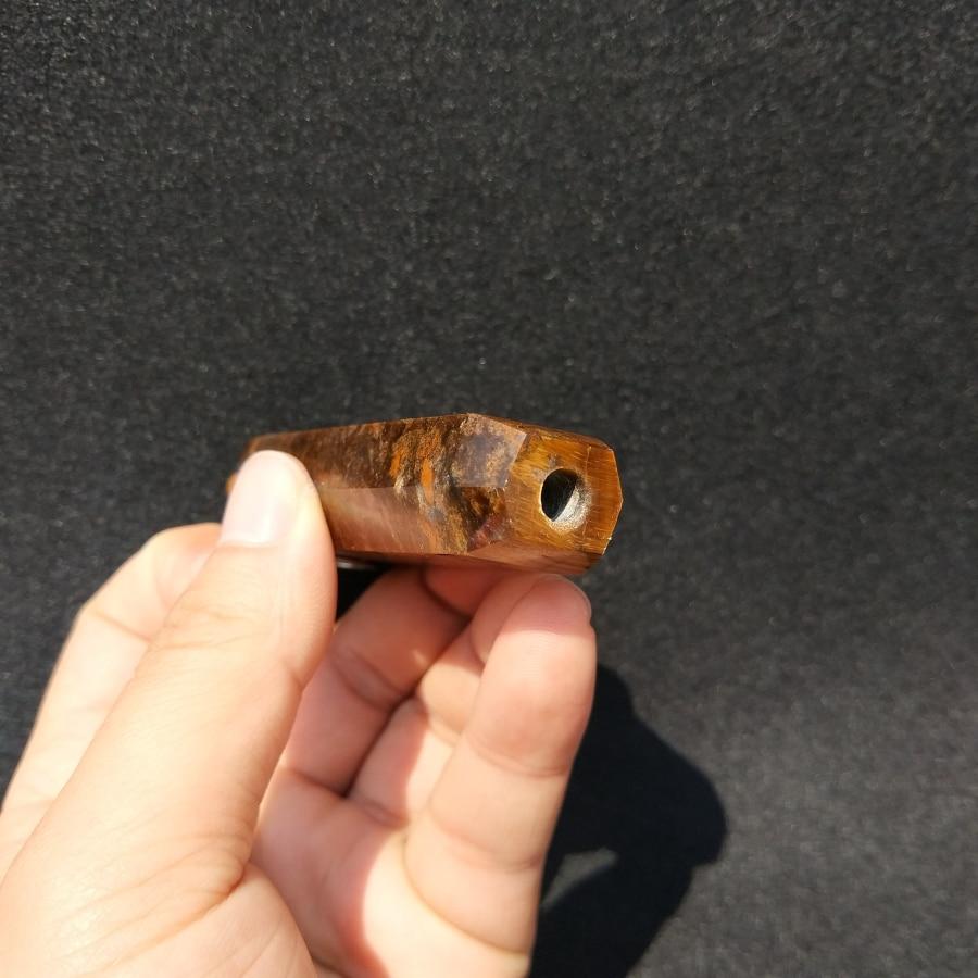 Tiger Eye Crystal Healing Pipe 3