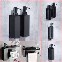 Шампунь, гель для душа бутылка, немецкий Черный Нержавеющая сталь дезинфицирующее средство для рук коробка, отель настенный дозатор мыла то