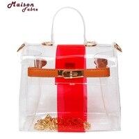 Transparent Stylish PVC Purse Clear Shoulder Bag Fashion Ladies Shopping Bag Bolsa Mochila Feminina De Moda