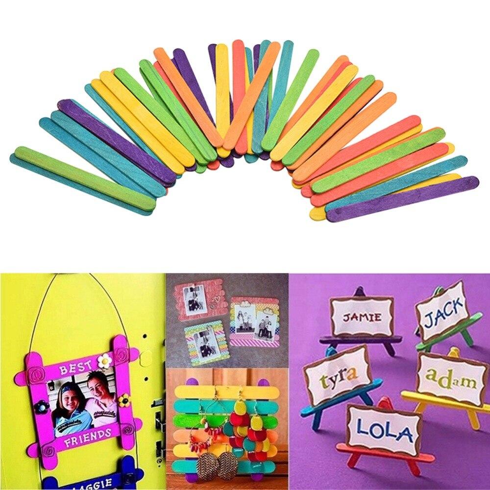 50 stücke Burlywood Popsicle Stick Multi-größe Lolly Eis Sticks - Küche, Essen und Bar - Foto 6