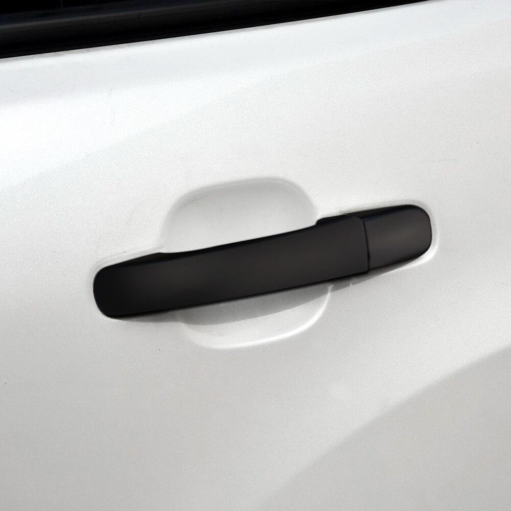 12PCS Carbon Fiber Exterior Door Handle Bowl Cover For Honda Civic 2016-2018