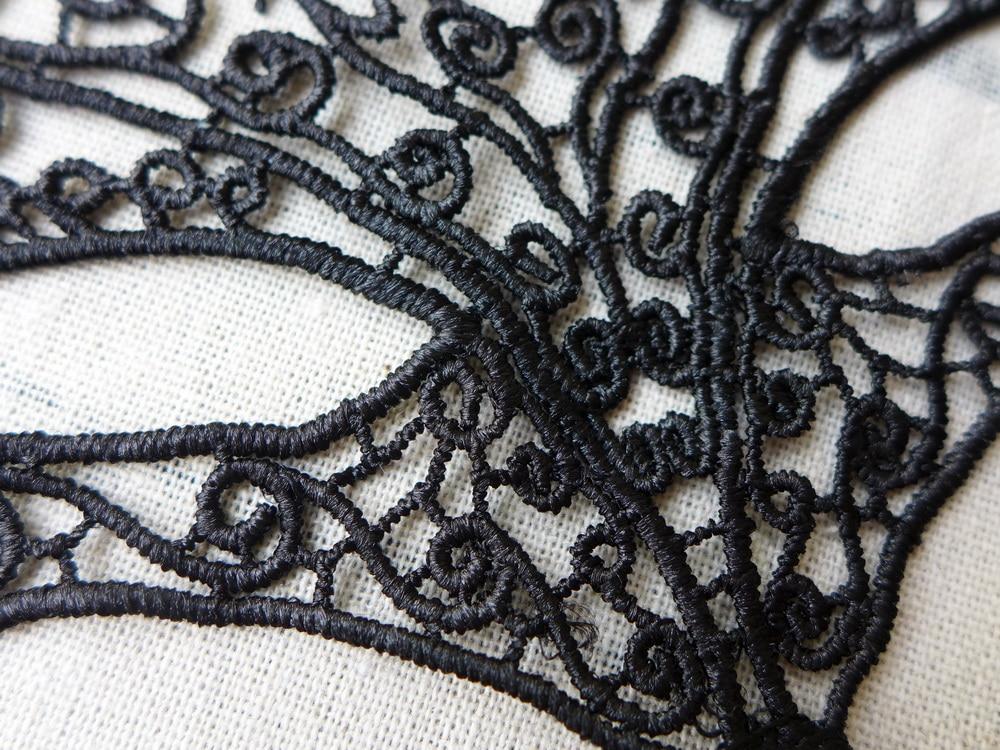 1pcs Halloween Masquerade Fox Crochet Lace Mask Halloween Christmas