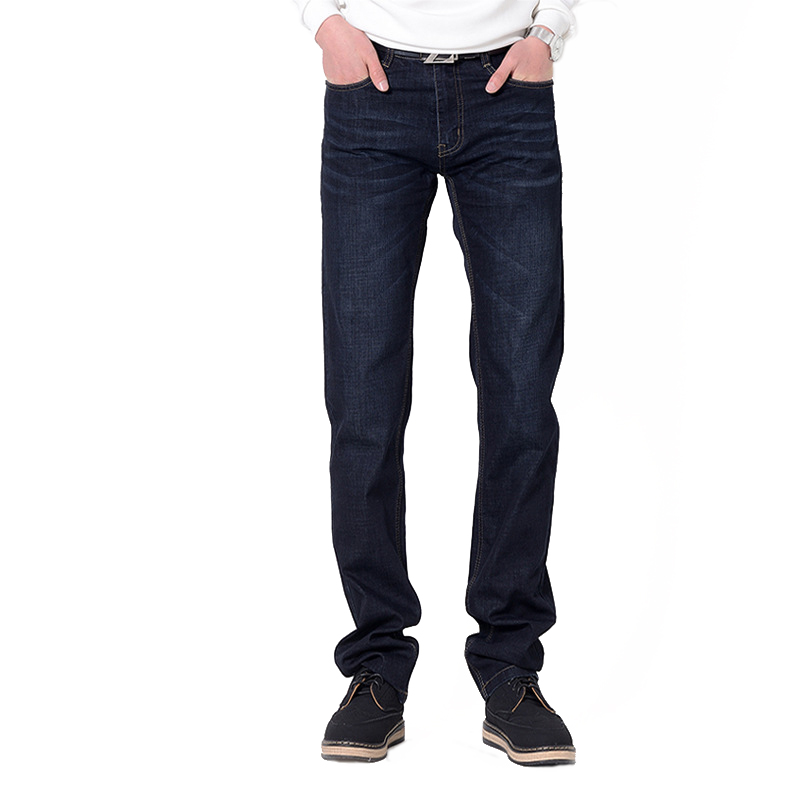 2017 Spring Summer Men Straight Stretch Jeans Lightweight Breathable Black Male Jeans Full Length Large Size Casual Denim Pants lowest price men s lightweight classics jeans for men summer thin blue denim short jeans homme male straight knee length