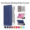 Ультра Тонкий Pu Кожаный Чехол для Huawei Mediapad Случае М3 8.4 дюймов Магнитный Аргументы За Крышки Huawei Mediapad M3 BTV-W09 BTV-DL09