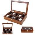 2020 de lujo 10 cuadrículas de madera hecho a mano caja de reloj de madera caja de reloj caja de tiempo para ver la