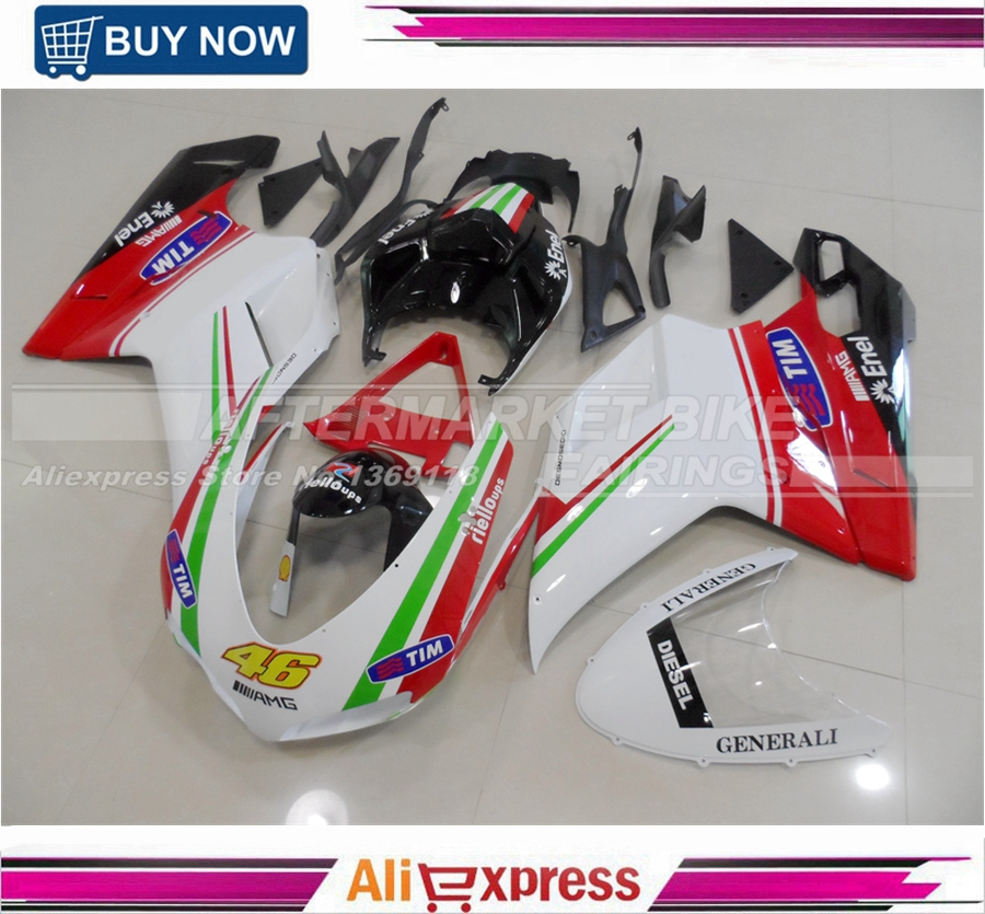 Rossi VR46 Design Painting 3mm Thick Durable ABS Aftermarket Fairing Bodywork For Ducati 1098 848 1198 Free Windshield iarts aha072962 hand painted thick texture of knife painting trees oil painting red 60 x 40cm