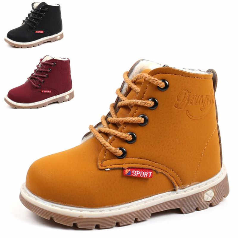 2019 winter boys and girls children snow boots fashion warm short boots baby thickening children snow boots kids cotton shoes