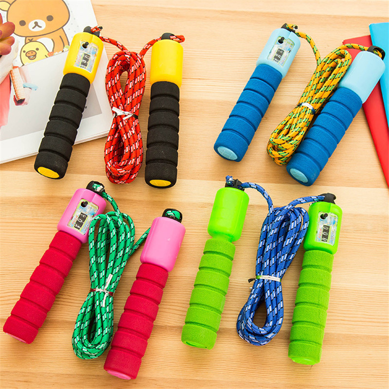 Skipping Rope Counter Jumping Rope Training Sponge Handle Workout Fitness Gym Rope Equipment Jump Rope Corda Crossfit
