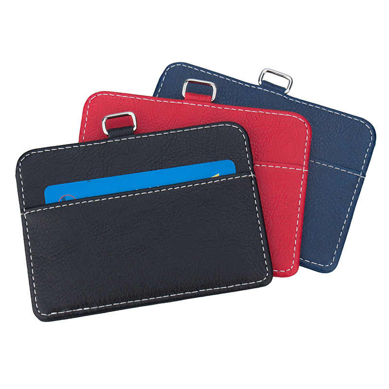 New transparent ID card holders and certificates case for admission quality PVC card badge holder work ID Cover without lanyard