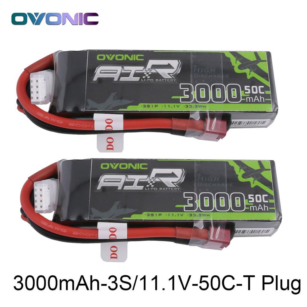 2X Ovonic 11,1 v 3000 mah 50C-100C LiPo 3 s Batterie Pack mit XT60 Deans Stecker für Segelflugzeug RC 3D flugzeug 400mm X-Schlitten Hubschrauber Quad