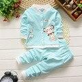 BibiCola inverno quente dos desenhos animados do bebê conjuntos de roupas de bebê outono definir calças top coat 2 peças bebê recém-nascido meninos meninas ternos