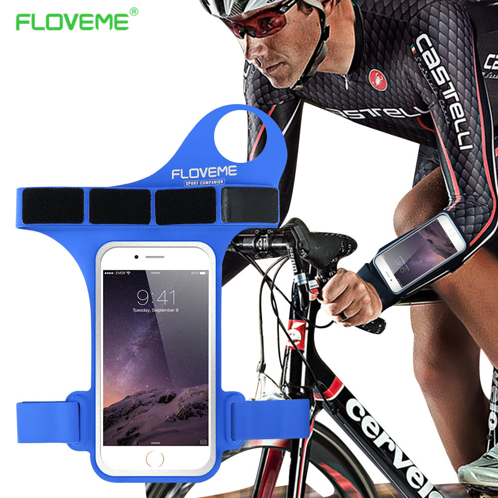 FLOVEME 5.5 Inch Universal Sport Armband For iPhone 6 6s 7 8 Plus For Samsung Galaxy S6 S7 S8 Note 8 Running Thumb Pouch Case