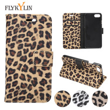 For iPhone XS Case Leopard Wallet Credit Card Slots Case for iPhone X XS Max 8 Plus 7 6s Plus 5 5S SE Leather Filp Silicon Case
