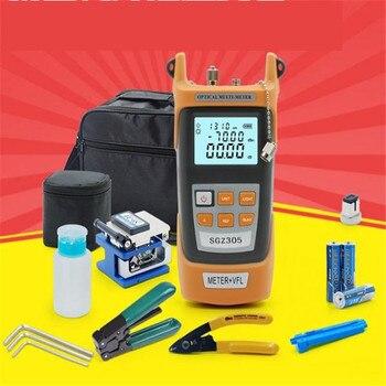 2 IN 1 optical power meter red light machine 5km fiber tester pen FTTH fiber cold junction kit, Fiber cleaver