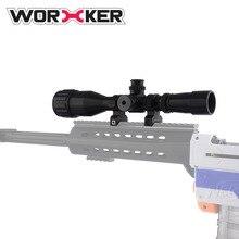 Worker f10555 3D Print NO.188 Barrett Decorative Aim for Nerf PLA Sighting Device Toy Gun Accessories - Black