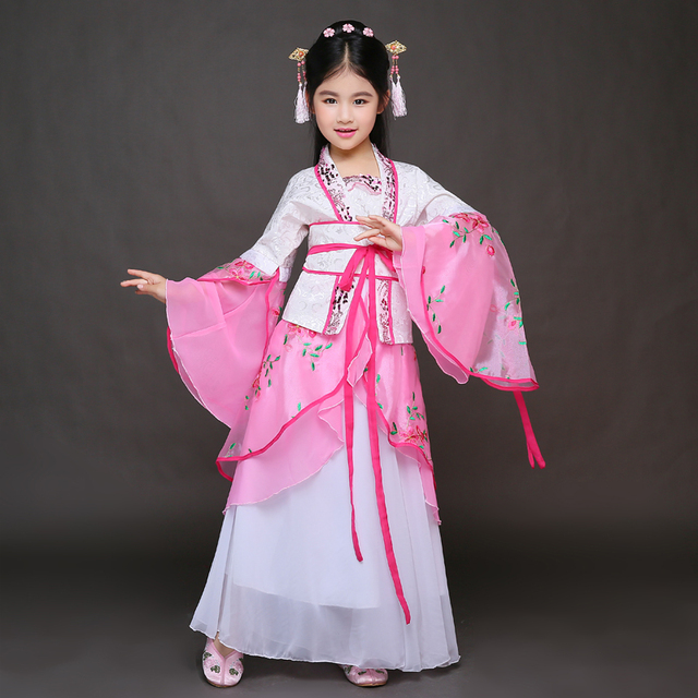 high quality pink chinese ancient traditional girls hanfu