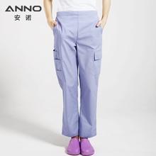 Navy Blue Grå Bomull Höjd Kvalitet Medicinsk Scrubs Surgery Kläder Sjuksköterska Uniform För Kvinnor / Man Medicinsk Kläder Skjorta Pant