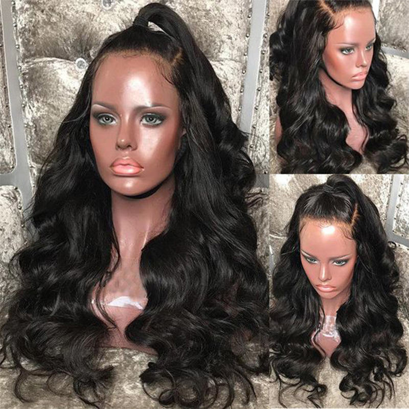 250 Density 13x6 Body Wave Lace Front Human Hair Wigs Pre Plucked With Baby Hair Glueless 360 Lace Frontal Wig Dolago 370 Remy