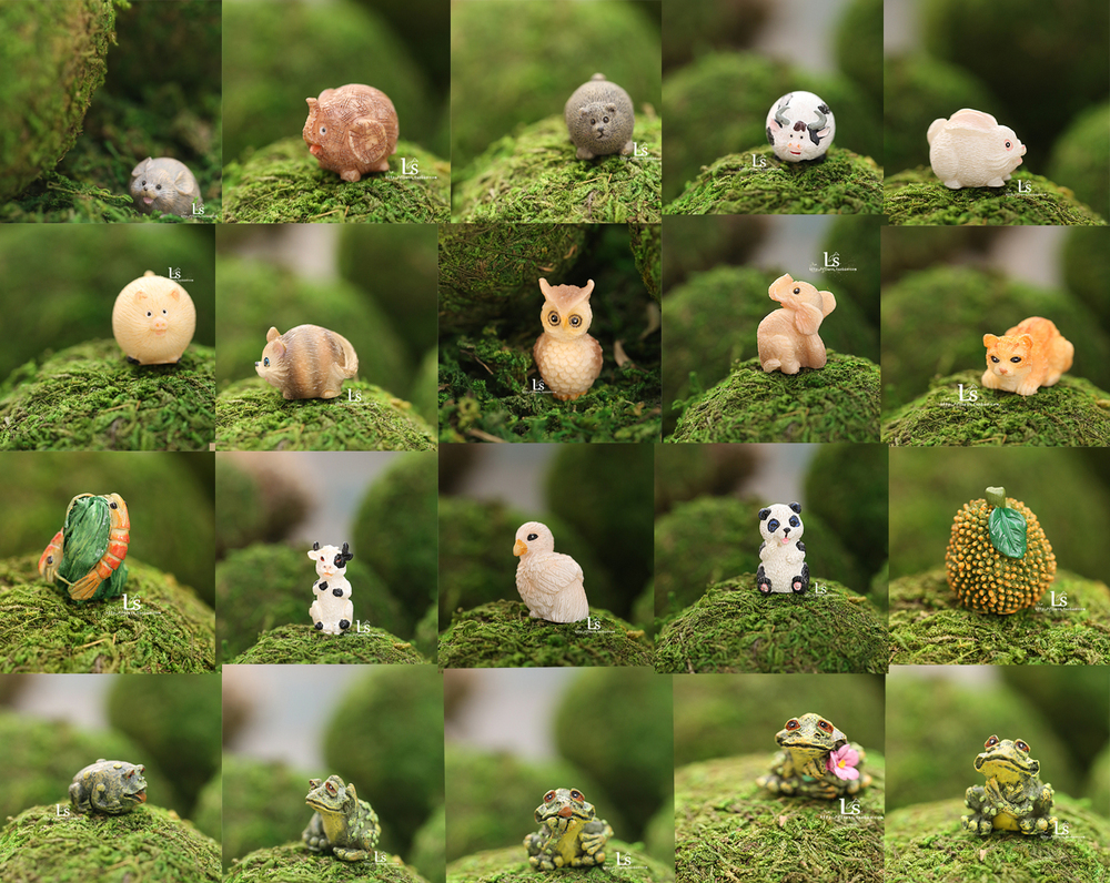 Miniature ornaments - Aliexpress Com Buy 2015 New Single Day Stay Kind Of Mini Miniature Ornaments Resin Small Animal Farm Simulation Meaty Moss Elf Decorative Landscape From