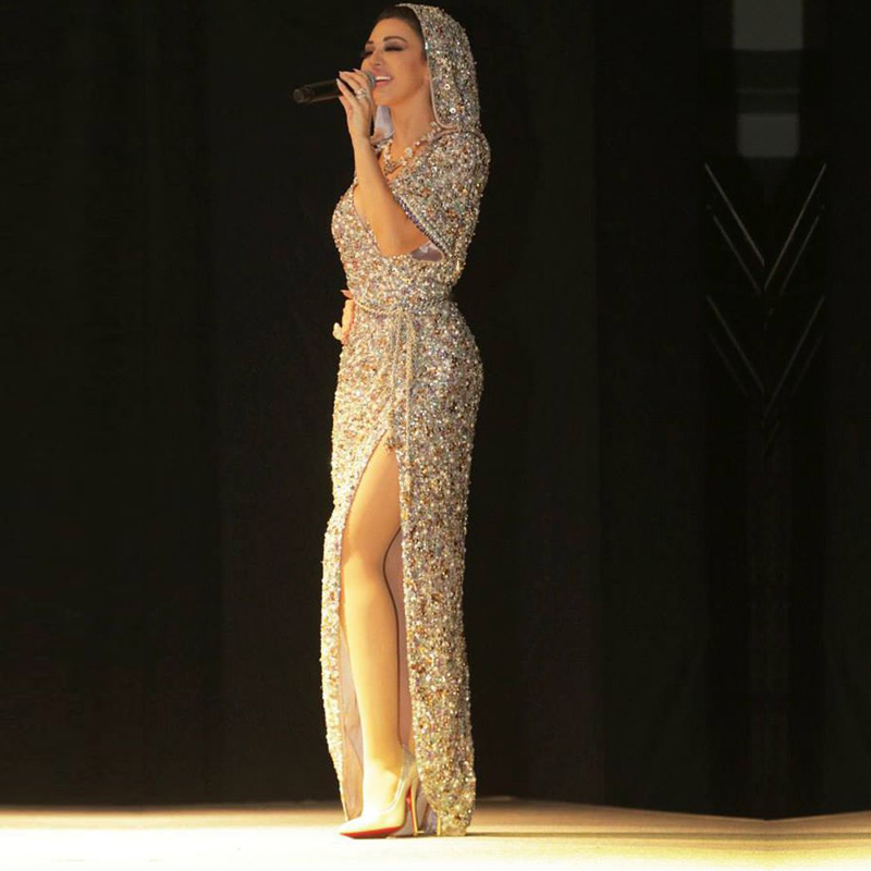 2016 Rhinestone Abendkleider Evening Dress Custom Crystals Deep V ...