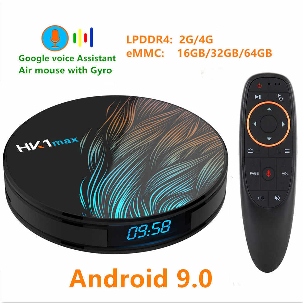 ТВ-приставка HK1 MAX Android 9,0 4 K Youtube Google Assistant RK3328 4G 64G 3D видео ТВ-приемник Wi-Fi Play Store Smart Set top tv BOX