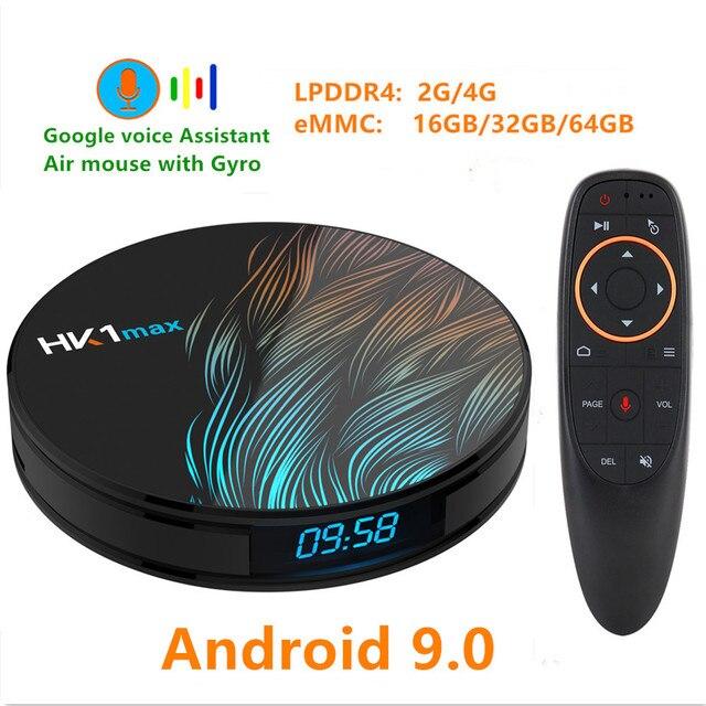 HK1 最大アンドロイド 9.0 TV ボックス 4 18K Youtube の Google アシスタント 4 グラム 64 グラム 3D ビデオテレビ受信機無線 lan プレイストアセットトップ Tv ボックス