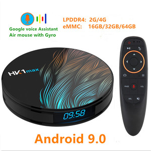Image 1 - HK1 MAX Android 9.0 TV BOX 4K Youtube Google Assistant  4G 64G 3D Video TV receiver Wifi Play Store Set top TV Box