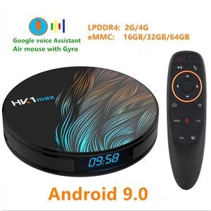 Image 1 - HK1 MAX Android 9.0 TV BOX 4K Youtube Google Assistent 4G 64G 3D Video TV ontvanger Wifi play Store Set top TV Box