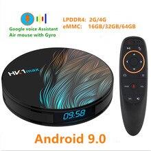 HK1 MAX Android 9,0 TV BOX 4K Youtube Google asistente 4G 64G 3D Video TV receptor Wifi jugar conjunto de tienda top TV Box