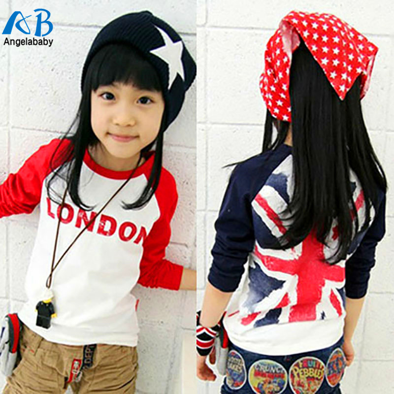 2017 NEW baby clothing boys and girls t shirts children T-shirts kids long sleeve T-Shirt love london tops tees