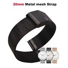 Купить с кэшбэком  Metal Pulsera Correa Strap 20mm Smart Watch Bracelet Band for Huami Amazfit Bip Lite for Huawei Watch 2 for Samsung Gear S2 S4