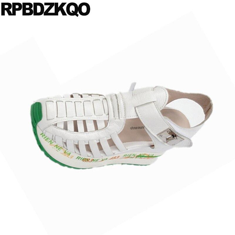 Sandalias Cómodo De Blanco Porciones Zapatos Cuña Tiras Plata Mujer dCxBroeW