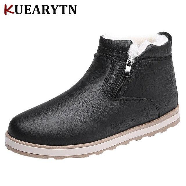 Erkekler Kış Ayakkabı Moda Yeni Daireler Sıcak Erkek yarım çizmeler Peluş Yumuşak deri ayakkabı Erkekler rahat ayakkabılar 3 renk 39 ~ 44 sıcak satış