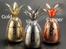 Envío Libre de la Piña Vaso/taza, Taza De Acero Inoxidable Disponible en 3 colores (Plata, Cobre, Oro)-Cocktail Beber Vasos Tazas